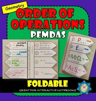 Foldable Order of Operations PEMDAS