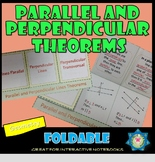 Foldable Parallel and Perpendicular Lines Theorems