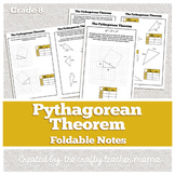 Foldable: Pythagorean Theorem Introduction (8th Grade Geom