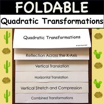 Quadratic Transformations Activity Worksheets TpT