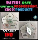 Ratios, Rate, Unit Rate, Proportions and Cross Products Foldable