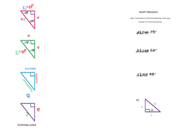 Foldable Right Triangle