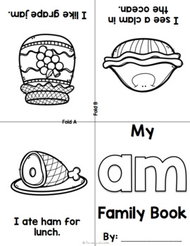 Foldable Short A Word Family Books