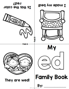 Foldable Short E Word Family Books