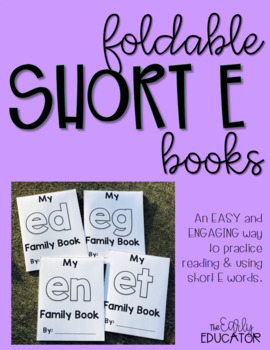 Foldable Short E Word Family Books