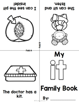 Foldable Short I Word Family Books