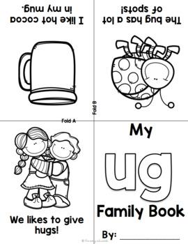 Foldable Short U Word Family Books