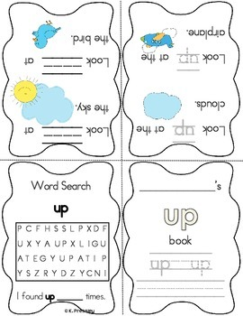 Foldable Sight Word Booklets-Kindergarten Practice!