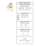 Foldable Solving Equations:  Grade 8 Math Common Core