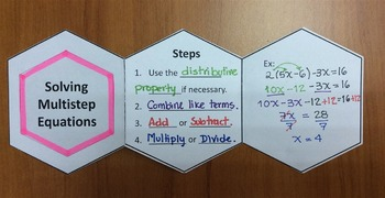 Foldable Solving Multi-step Equations