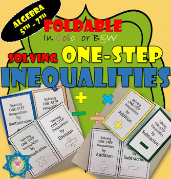 Foldable Solving One-step Inequalities