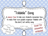 Foldable Song - Interactive Notebook Supplement