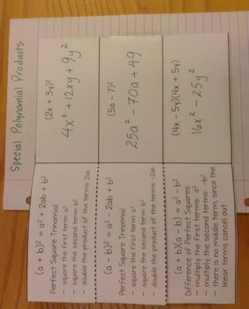 Foldable - Special Polynomial Products