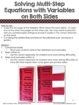 Middle School Math Foldable Style Notes Bundle for 8th Grade and Algebra