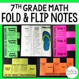 Middle School Math Foldable Style Notes Bundle for 7th Grade
