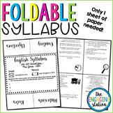 Foldable Syllabus