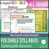 Foldable Syllabus