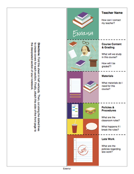 Foldable Syllabus Template - Customizable and Perfect for Interactive Notebooks