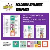 Foldable Syllabus Template - Customizable and Perfect for