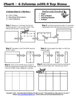 Foldable - Table, Charts, and Grids Series - Graphic Organizers