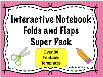 Folds and Flaps Templates Super Pack for Interactive Notebooks