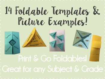 Foldable Templates!