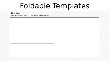 4 Foldable Templates EDITABLE
