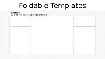 4 Foldable Templates EDITABLE