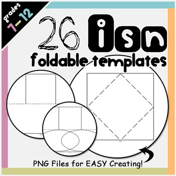 Foldable Templates for Interactive Notebooks
