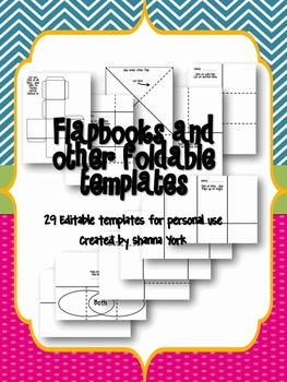 Foldable Templates for Personal Use