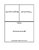 Foldable - Theoretical Vs Experimental Probability (with a