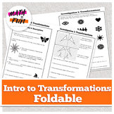 Foldable: Transformations Introduction (Connected Math aligned)