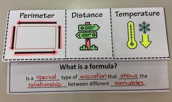 Foldable Transforming Formulas