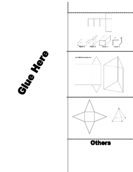 Foldable Volume and Surface Area Prisms