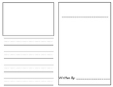 Foldable book template in English and Spanish