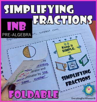 Foldable equivalent fractions and simplifying fractions