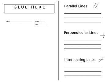 Foldable for Parallel and Perpendicular Lines