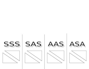 Foldable for SSS, SAS, AAS, and ASA