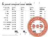 Foldable for learning the passé composé with avoir