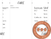 Foldable for teaching the verb FAIRE conjugations in French
