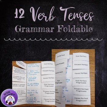 Foldable for the Twelve Verb Tenses in English