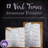 Grammar Foldable for the Twelve Verb Tenses in English