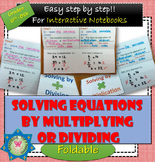 One-step equation by multiplying and dividing Foldable