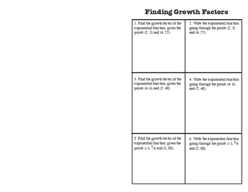 Foldable_Finding Exponential Equations from Two Points PRACTICE
