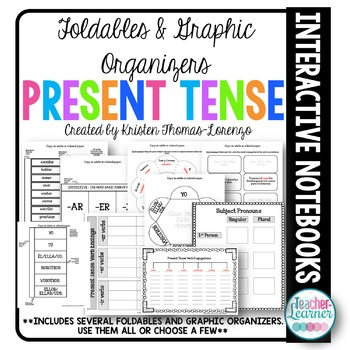 Foldables & Graphic Organizers - Present Tense Verbs