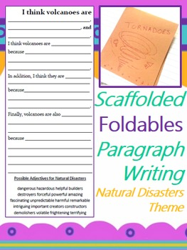 Scaffolded Paragraph Writing Foldables {Natural Disasters Theme}