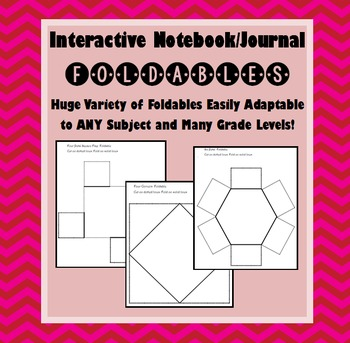 Foldable Templates for Interactive Notebook / Journal Pages