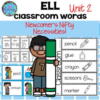 English Language Learners School Vocabulary ELL Vocabulary - Unit 2 ESL Newcomer