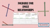 Foldables for Angle Relationships