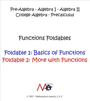 Foldables for Functions